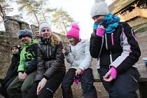 Na hradě Helfenburk nocovaly děti z turistického oddílu TOM z Roudnice nad Labem.
