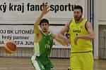 Basketbalové utkání Litoměřice a Liberec, I. liga 2019/2020. David Šteffel