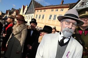 V Úštěku ž tradičně slavili den vzniku Československého státu dnem řemesel. Opět dorazil i prezident Masaryk.
