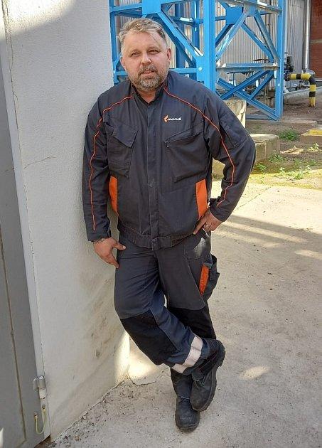 Václav Švancara, kapitán týmu Mondi Štětí, a. s., který ve firmě pracuje jako Obsluha energetického zařízení.