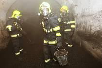 Požár uhlí v Terezíně