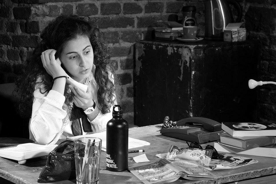 Mluvčí projektu OLDstars on the Roud v Roudnici nad Labem, studentka a členka Oldstars Julie Ondračková.