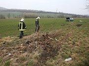 Dopravní nehoda u obce Klapý.