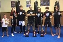 Pavel Hon, Lenka Masopustová, Michal Robouský, trenér Vít Masopust, Barbora Marešová, Mahammad Jafar a Filip Kafka.