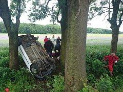 Páteční nehoda u Chodoun.