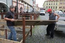 Předzahrádka na Mírovém náměstí v Litoměřicích.