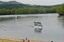 Píšťanské jezero. Archivní snímek