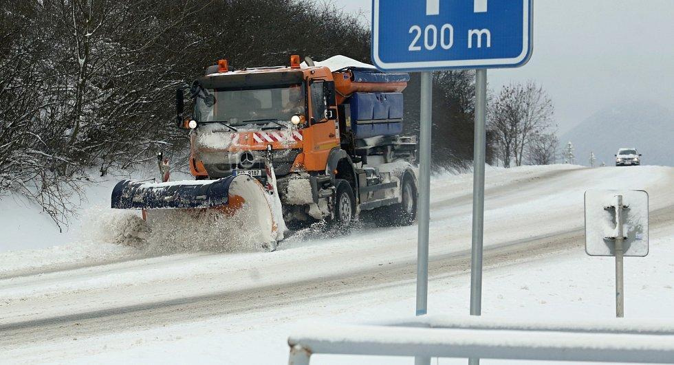 Sníh na Litoměřicku, 8. února 2021