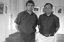 POTŘETÍ. Karel Pech (vlevo) a Petr Hermann vystavují společně již potřetí.