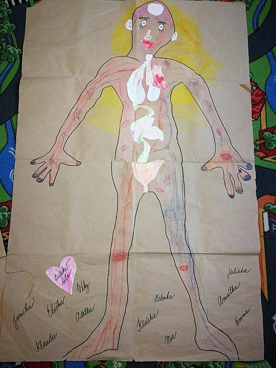 Prvňáci poznávali a také tvořili lidské tělo