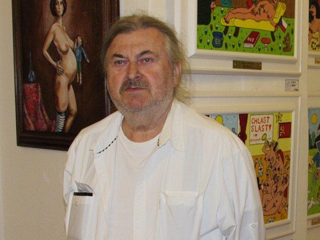 František Ringo Čech v úštěcké galerii U brány.