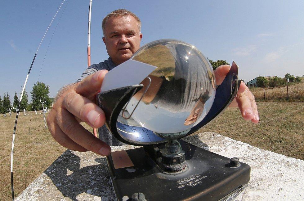 Meteorologická observatoř v Doksanech. Archivní foto