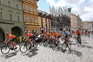 Start první etapy Závodu míru juniorů 2019 na Mírovém náměstí v Litoměřicích.
