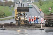 Oprava okružní křižovatky u Lidlu v Lovosicích