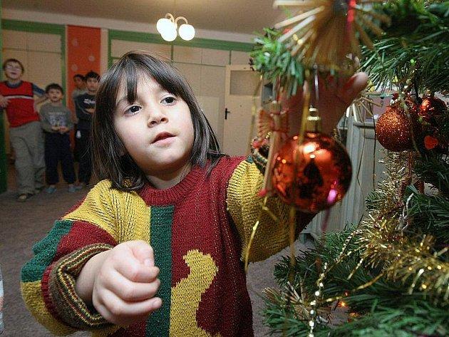 VÁNOČNÍ STROMEČKY už mají děti ve všech bytech nazdobené. Nyní už jen čekají na Ježíškovu nadílku. Štědrý den budou trávit pohromadě.