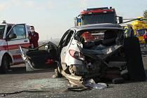 Vážná nehoda na silnici I/15 u Nových Kopist