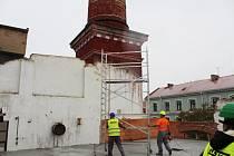 Pivovar v Litoměřicích během rekonstrukce v roce 2019