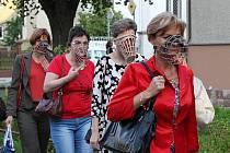 Protestní akce u Gymnázia J. J. v Litoměřicích - 1. září 2011.