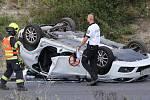 Nehoda na dálnici D8 u Keblice