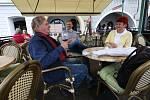 Otevřené předzahrádky na náměstí v Litoměřicích