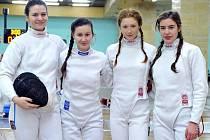 MEJ: družstvo Saligerová, Coufalová, Nevosadová a Došková.