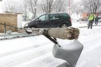 Středeční nehoda na sněhu v Lukavci