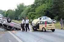 Dopravní nehoda dvou osobních aut, ke které došlo v úterý 29. června v Úštěku.