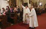 V katedrále sv. Štěpána v Litoměřicích se na Bílou sobotu večer konaly obřady velikonoční vigilie.
