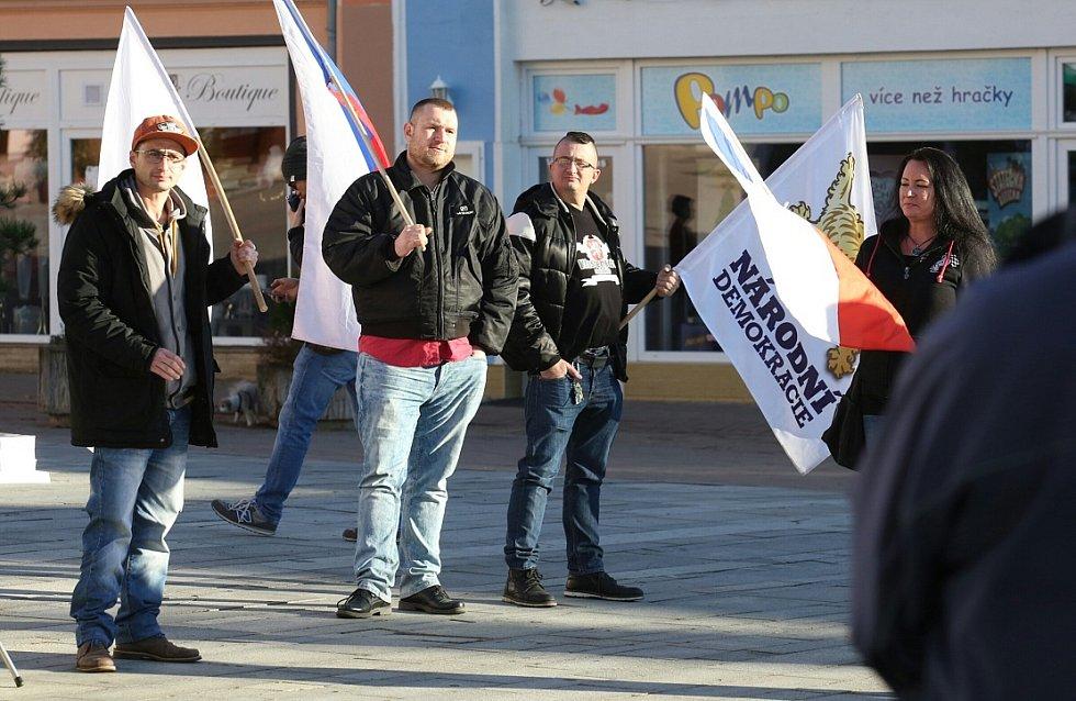 V Litvínově demonstrovali nacionalisté.