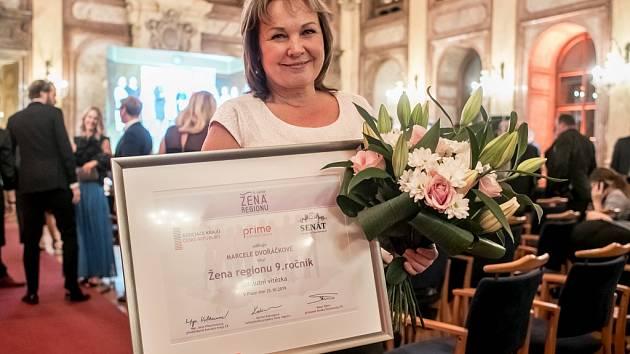 Marcela Dvořáčková z Ústeckého kraje se stala vítězkou soutěže Žena regionu. Ocenění převzala 25. října v Praze.