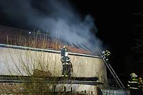 Požár v Klenči na Roudnicku.