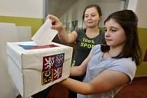 Studenti litoměřického gymnázia si vyzkoušeli volby do Evropského parlamentu