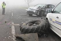 Dopravní nehoda mezi Chotěšovem a Radovesicemi u Libochovic