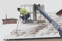 Úklid sněhu v Litoměřicích