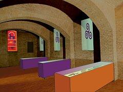 Vizualice plánované expozice ve Pfannschmidtově vile v Lovosicích