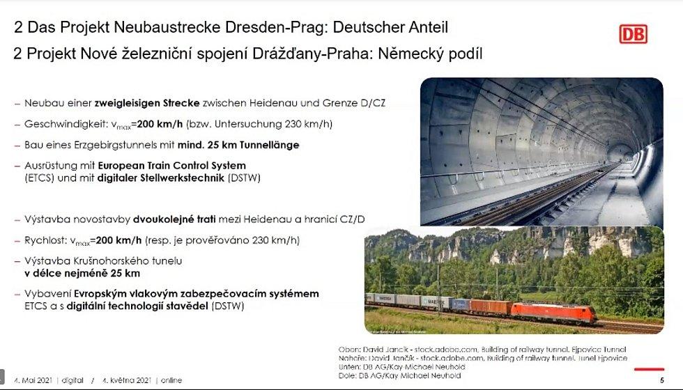 Projekt VRT Praha - Drážďany.
