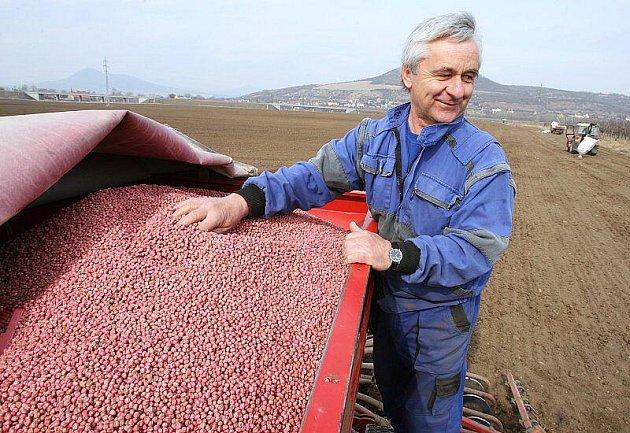 Setí jarního ječmene a dalších plodin.