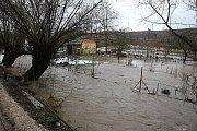 Povodeň na Litoměřicku, neděle 16. ledna 2011 - Libochovicko.