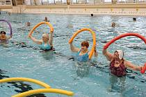 Plavecký bazén v Litoměřicích na archivním snímku z programu pro seniory.