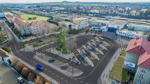 Vizualizace nové podoby lovosického autobusového nádraží.