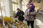 Až do neděle mohou zájemci ve vestibulu zámku zhlédnout velikonoční výstavu Klubu šikovných rukou litoměřického regionu.