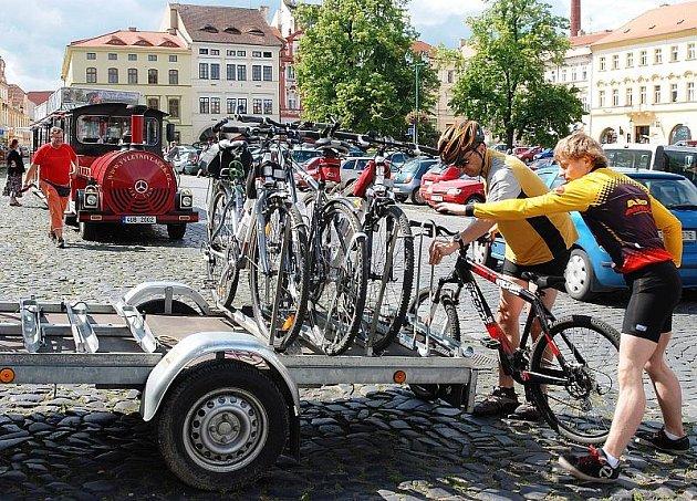 Cyklobus před startem.