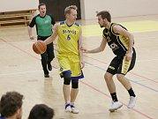Čtvrtfinále play - off I. basketbalové ligy mezi Litoměřicemi a Pískem.