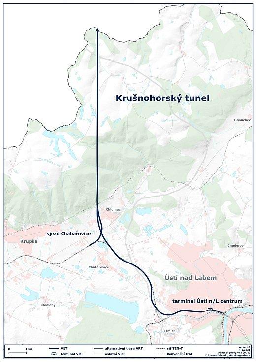 Krušnohorský tunel je pojmenování pro úsek Nového železničního spojení Drážďany – Praha vedoucí z Heidenau do Ústí nad Labem. Novostavba zahrnuje vybudování nového terminálu Ústí nad Labem centrum, rozšíření stávající trati 130 Děčín – Chomutov v úseku Ús