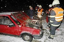 Noční nehoda nedaleko Třebenic