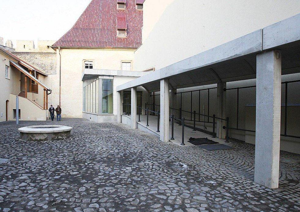 Gotický hrad v Litoměřicích po rekonstrukci.
