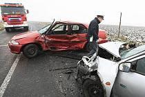 Dopravní nehoda mezi obcemi Chodovlice a Klapý - 31. 12. 2009.