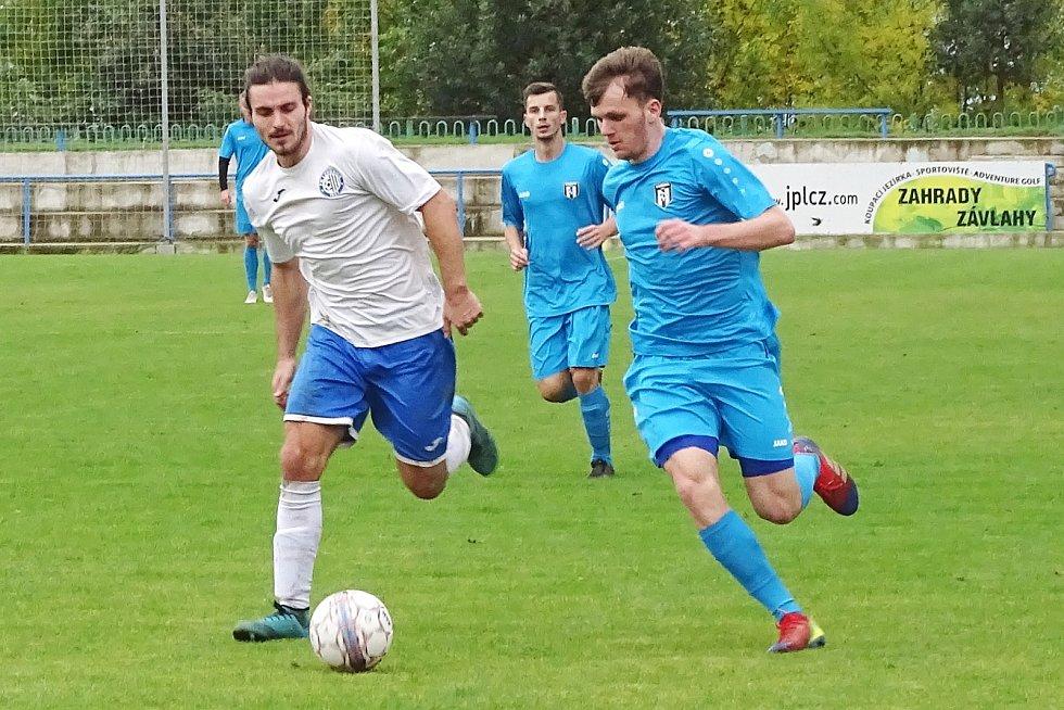 ASK Lovosice (v bílém) - Oldřichov, krajský přebor 2020/2021