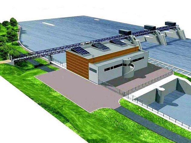 Takto má vypadat vodní elektrárna na dolním toku Labe, na jezu Štětí - Račice