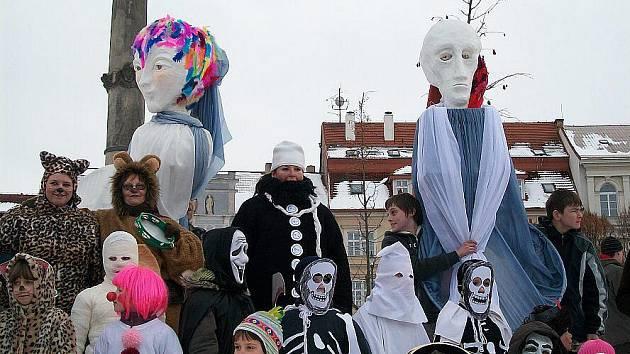 Masopustní oslava v Roudnici nad Labem.